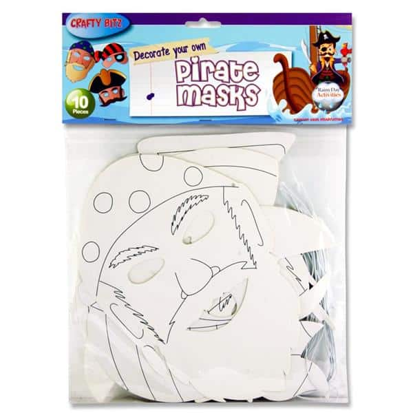 Crafty Bitz Pkt.10 Masks - Pirates