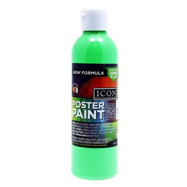Icon 300Ml Fluorescent Poster Paint - Green