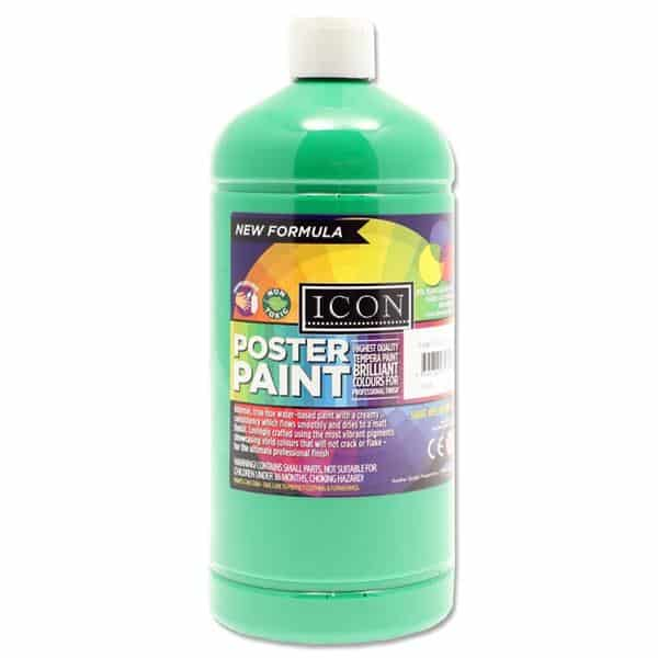 Icon Art 1ltr Poster Paint - Emerald Green