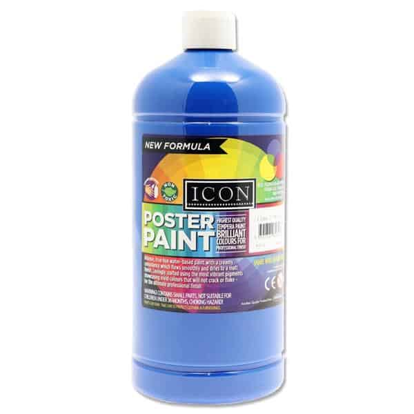 Icon Art 1ltr Poster Paint - Ultramarine Blue
