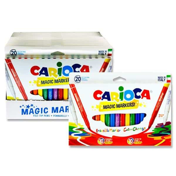Pkt.20 Colour Change Magic Erasable Markers Cdu