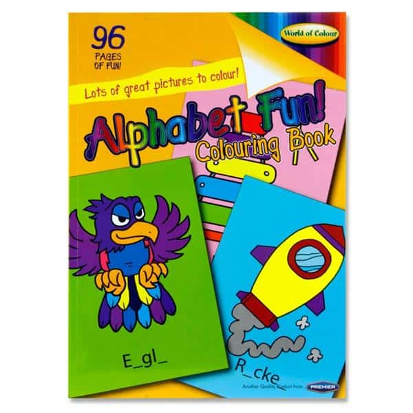 Woc A4 96Pg yellow Alphabet Fun Perforated Colouring Book