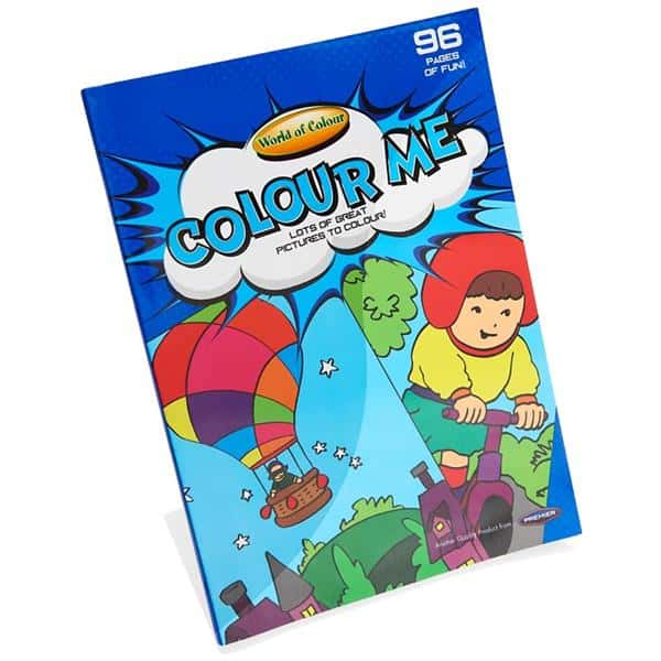 Woc A4 96pg Colour Fun (blue) Perforated Colouring Book