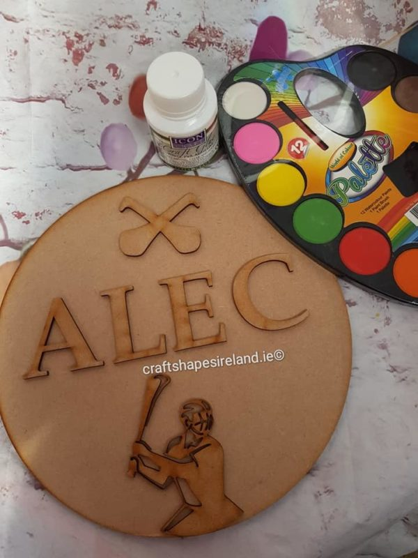 Personalised hurling/camogie Plaque gift set