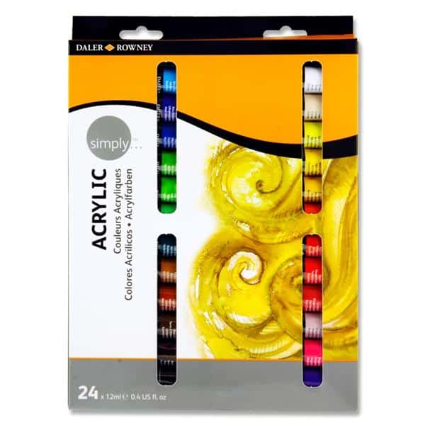Daler Rowney Simply...box 24x12ml Acrylic Paints