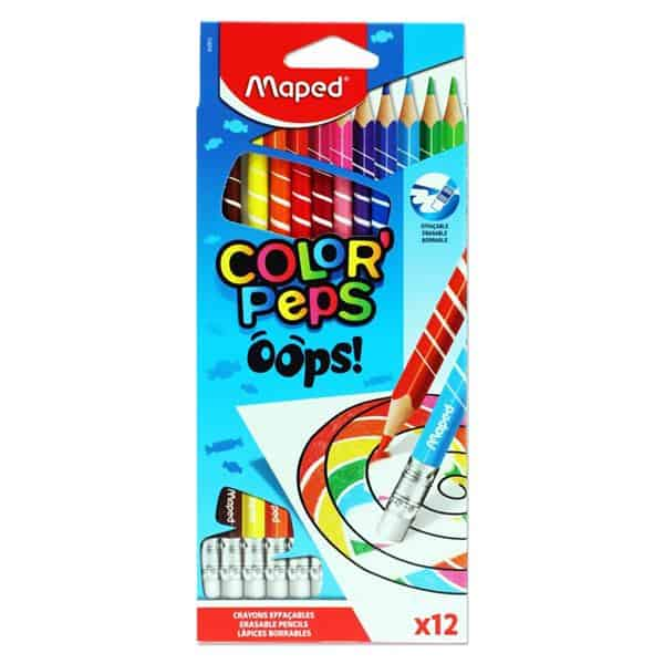 Maped Box 12 Color'peps Erasable Colouring Pencils - Oops