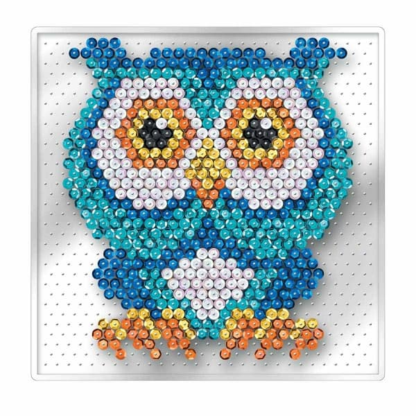 Owl - Sequin Art Pin Free