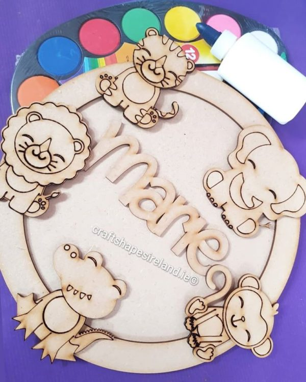 Personalised Safari Animal Plaque
