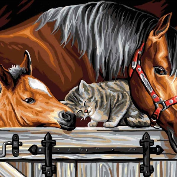 Stable Door Trio - Large Paint By Numbers