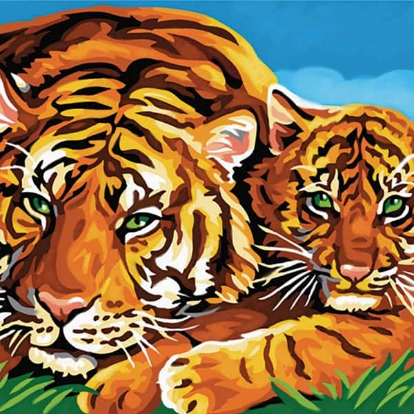 Tigers - Large Paint By Numbers