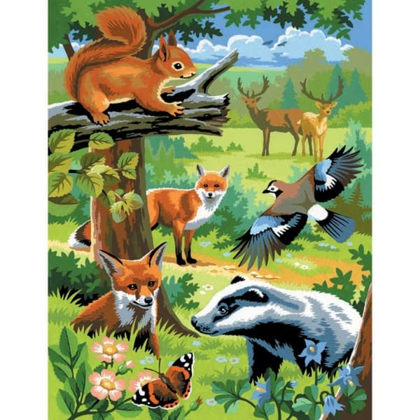 Woodland Animals - Medium Paint By Numbers