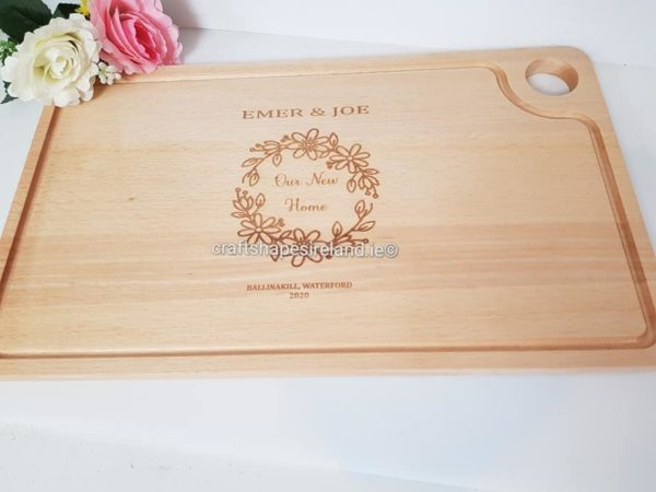 Personalised Gastro chopping board/Platter - New home