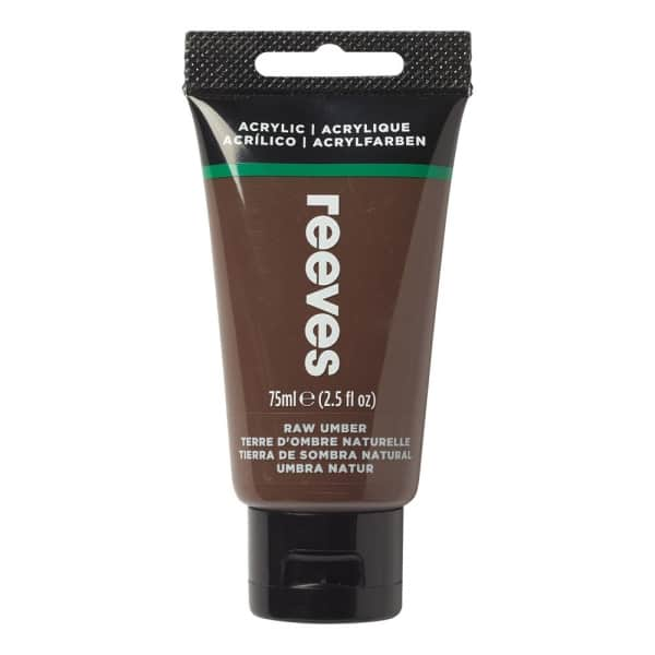 Raw Umber - Fine Acrylic - 75ml - Reeves