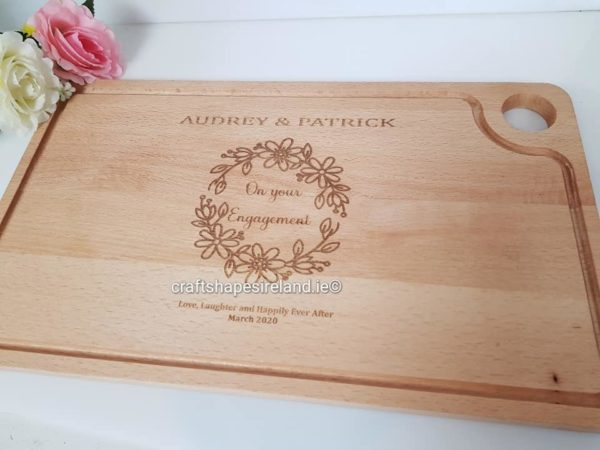 Personalised Gastro chopping board/Platter - Engagement