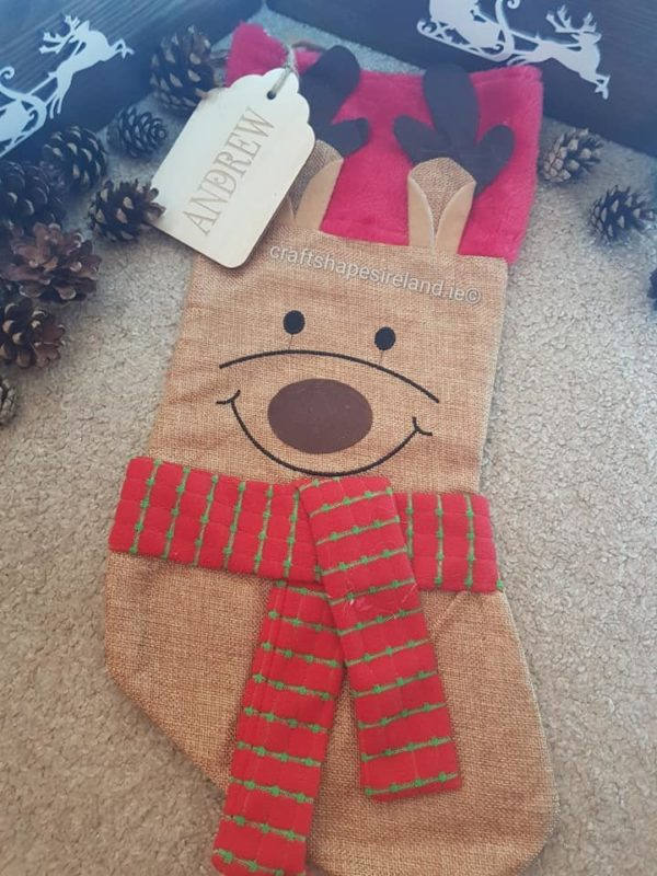 Personalised Character Stocking - Reindeer
