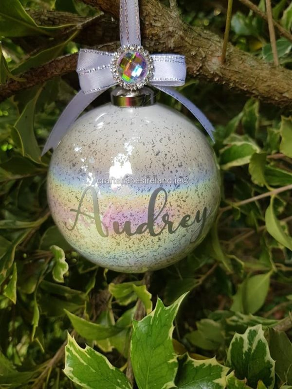 """""""Audrey"""" Personalised Bauble"""