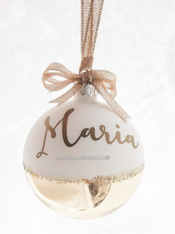 """""""Maria"""" Personalised Bauble"""