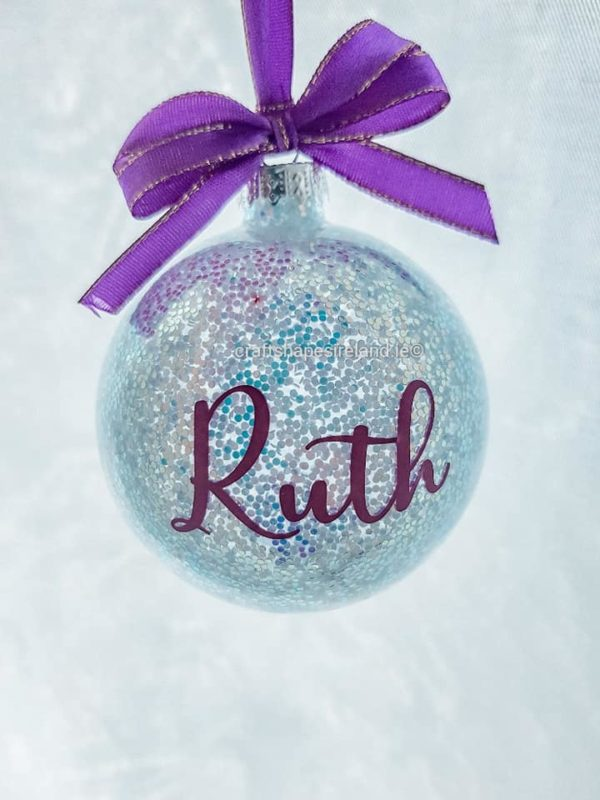 """""""Ruth"""" Personalised bauble"""