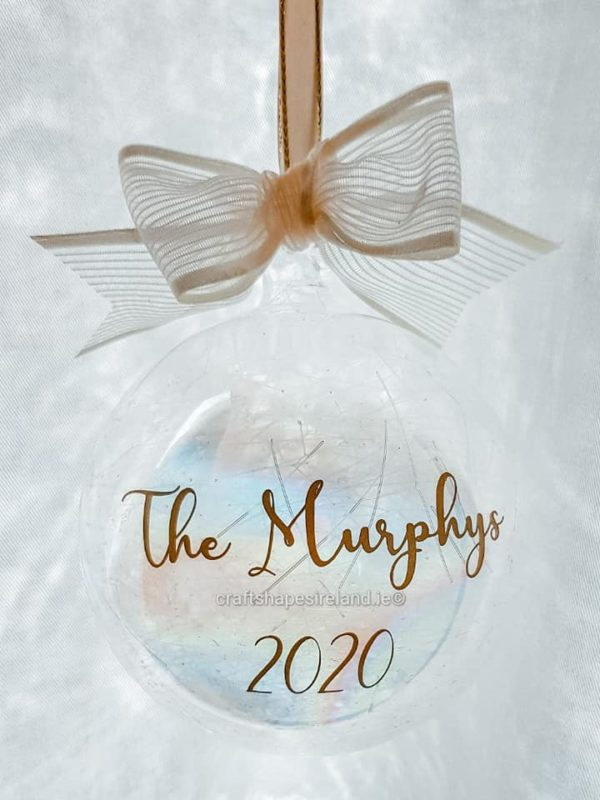 """""""The Murphys"""" Personalised bauble - Show stopper"""