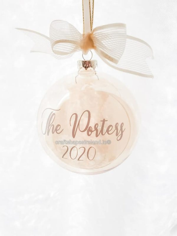 """""""The Porters"""" Personalised bauble - Show stopper"""