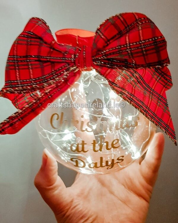 """""""Lights Red"""" Personalised bauble - Show stopper"""