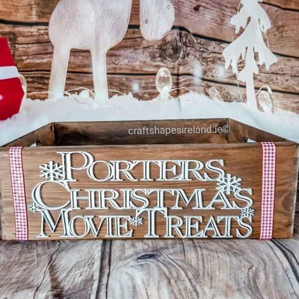 Christmas movie treats box, personalised - Stained