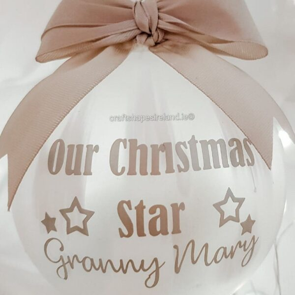 Personalised Feather effect Christmas Star