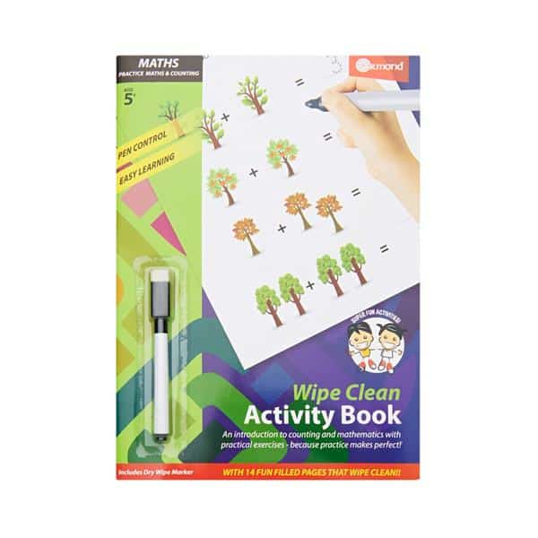 Ormond A4 14pg Wipe Clean Activity Book W/pen - Maths & Counting