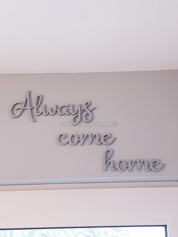 Always come home (colour choice)