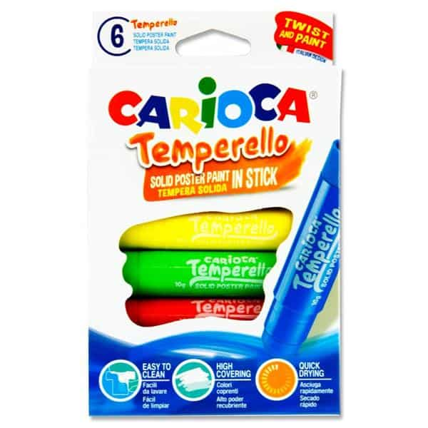 Carioca Temperello Pkt.6 Poster Paint Sticks
