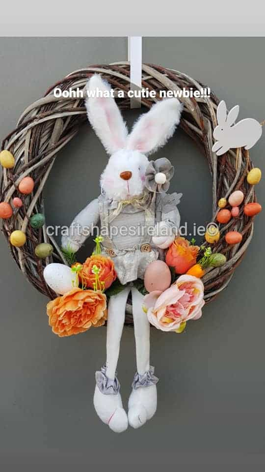 """""""Cotton Tail"""" Easter Wreath"""