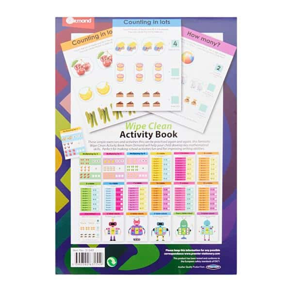 Ormond A5 22pg Wipe Clean Activity Book W/pen - Multiply