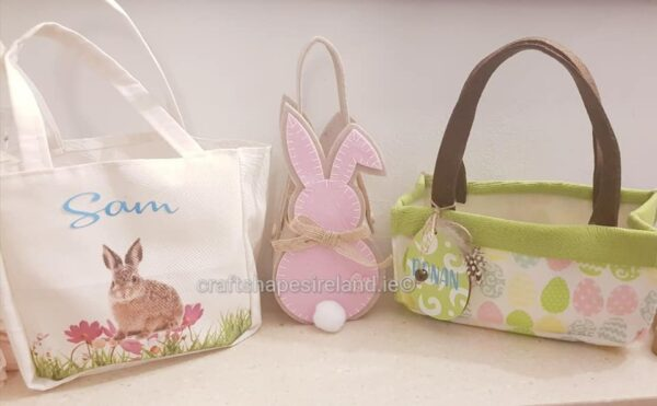Personalised Canvas Easter Bag