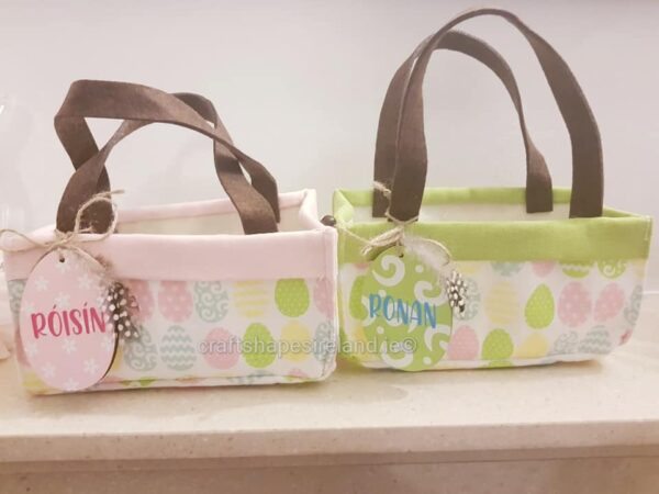 Personalised Basket Bag 2 colours available