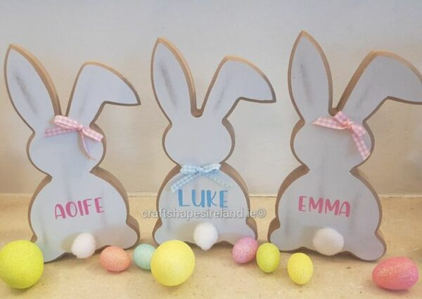 Personalised Freestanding Easter Bunny