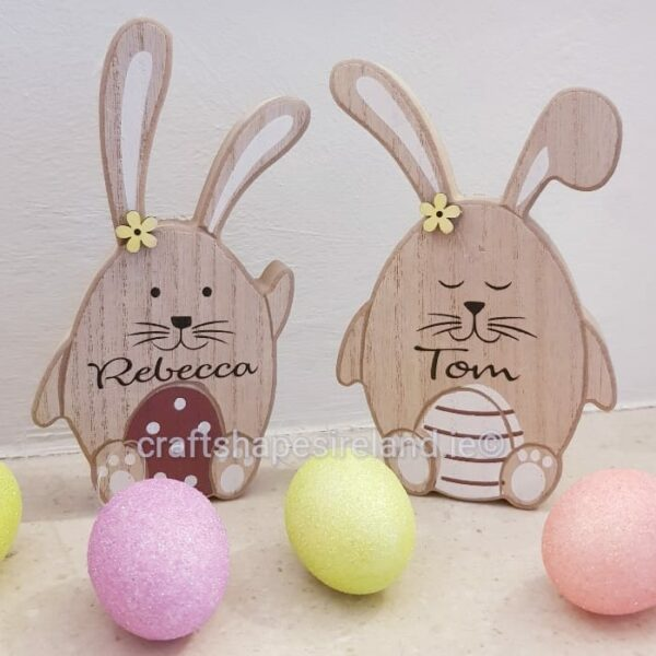 Personalised Bunny with egg shape