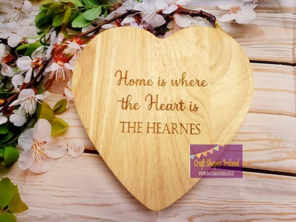 Personalised Home is where...cheeseboard and utensils
