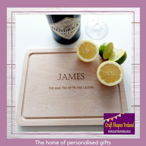 Personalised chopping or drinks board