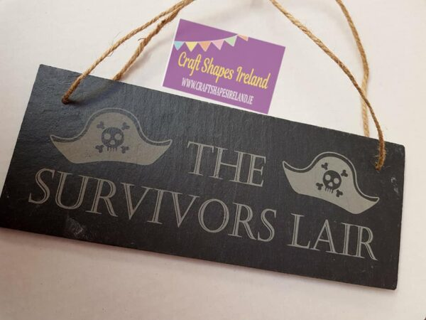 Slate sign - Personalised Pirates/Play Den