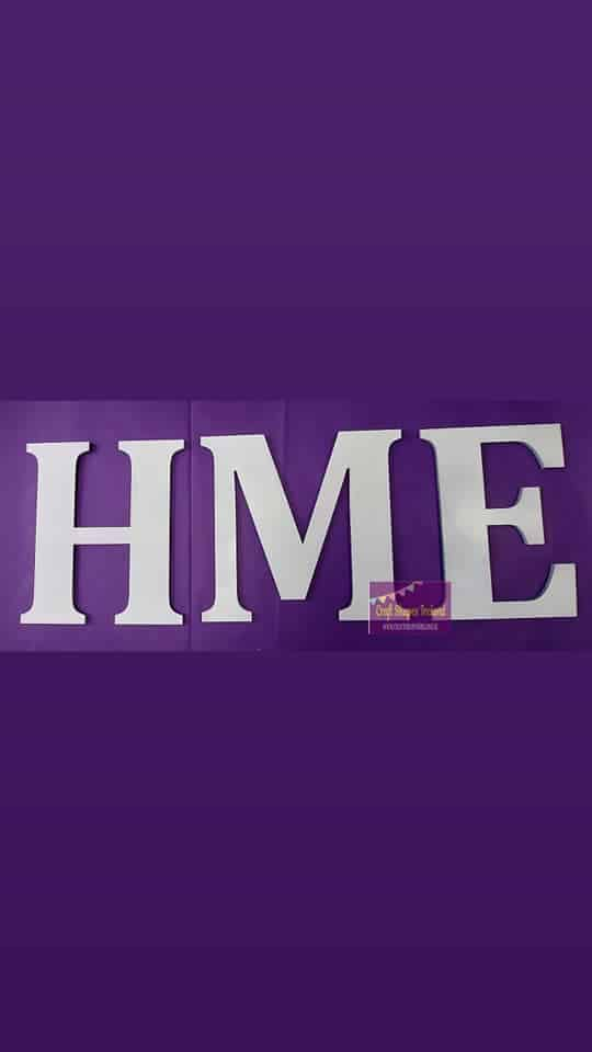 HME letters - colour choice