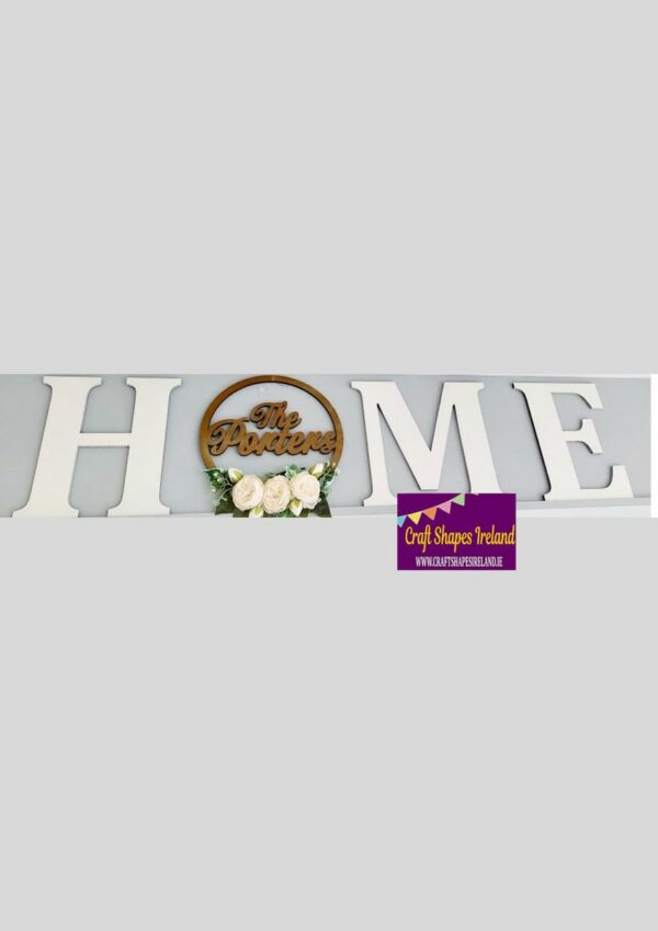 """Personalised HOME 12""""- colour choice"""