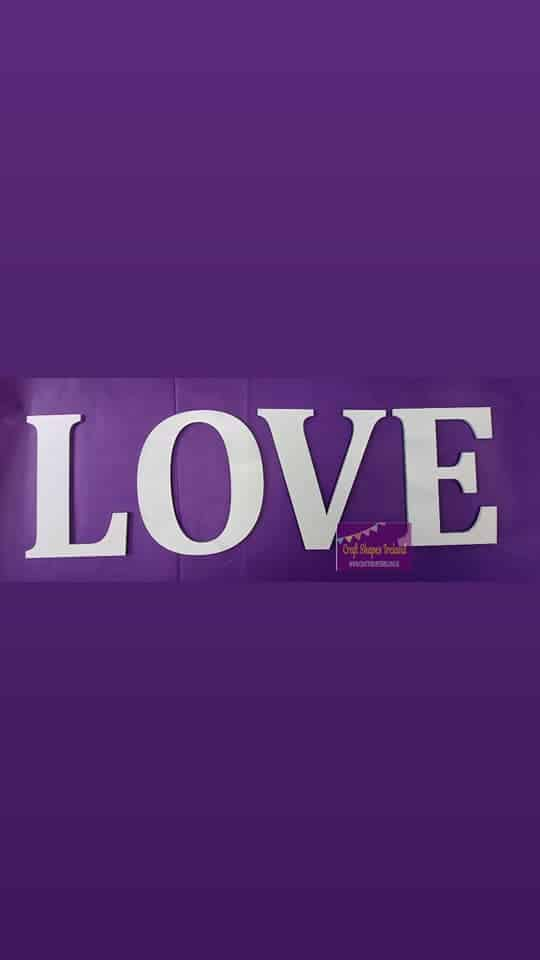 LOVE - All letters - colour choice