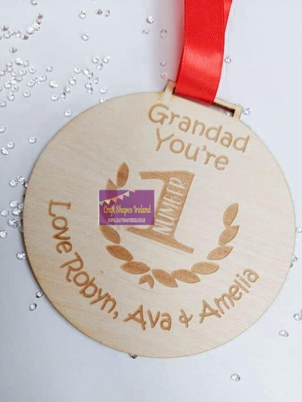Personalised You're number 1 Medal