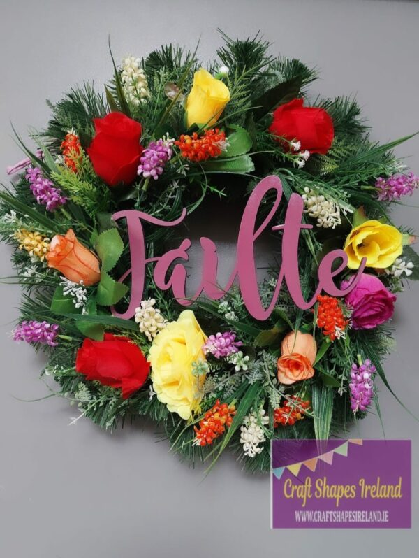 """Starburst"" Floral Wreath"