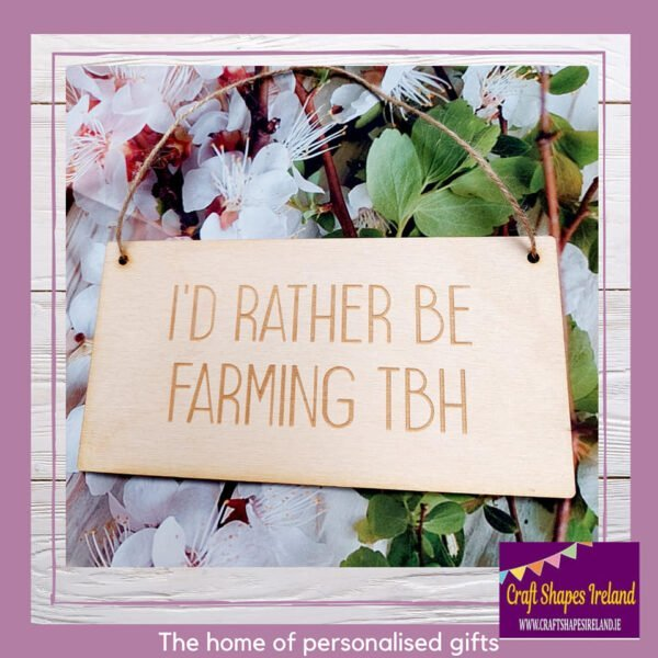 Birch sign - Id rather be (text) tbh