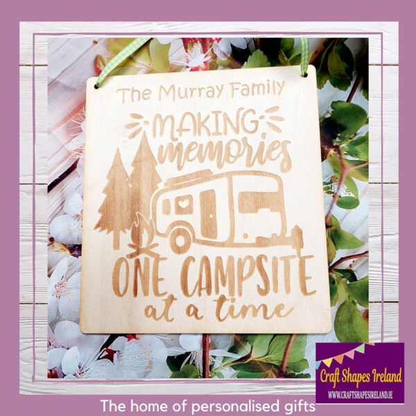 Personalised Making memories one campsite at time
