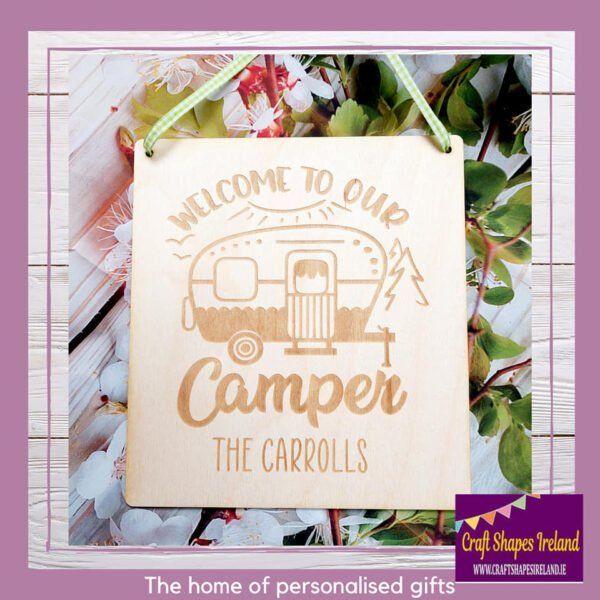 Personalised Welcome to our Camper