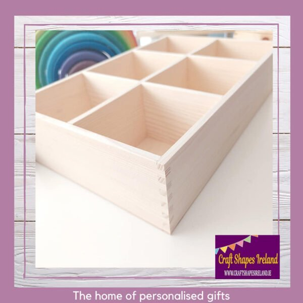 6 compartment deep sorting tray