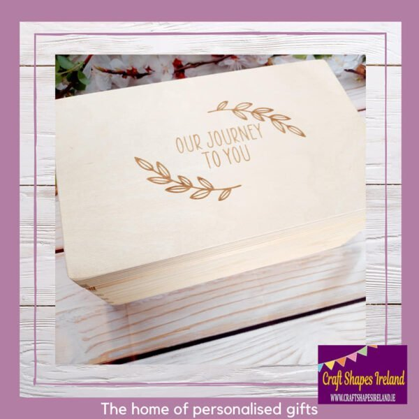 Our Journey to you IVF box with Milestones Tokens
