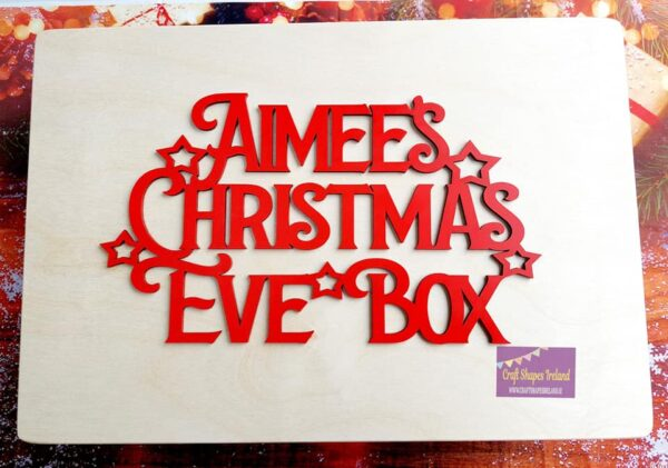 Christmas eve box NATURAL, Stars & Reindeer - Choice of sizes